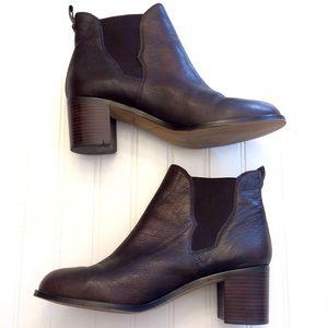 555ff78e4f4db8 Sam Edelman Shoes - Sam Edelman Justin brown leather gore ankle boot